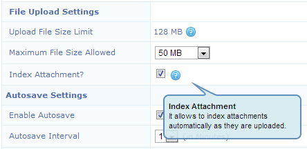 Auto Index Attachments