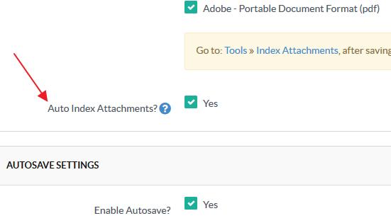 Auto Index Attachments